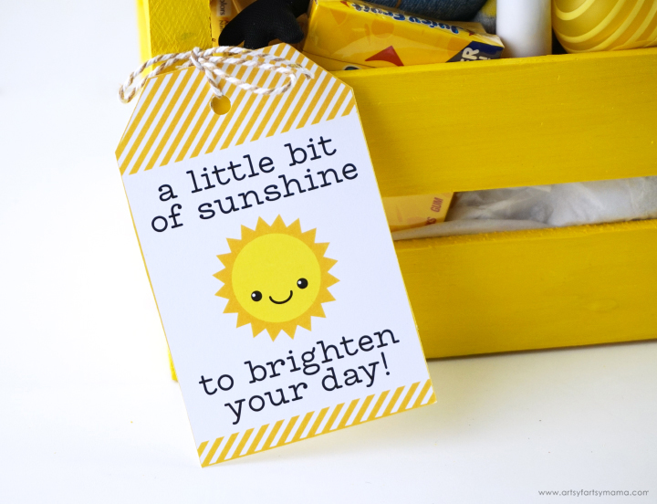 Free Printable Sunshine Gift Tag