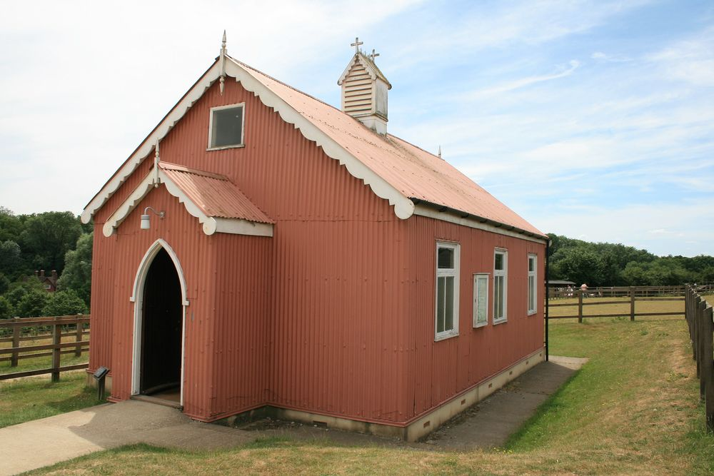 Tin tabernacle at Sandling, Kent.