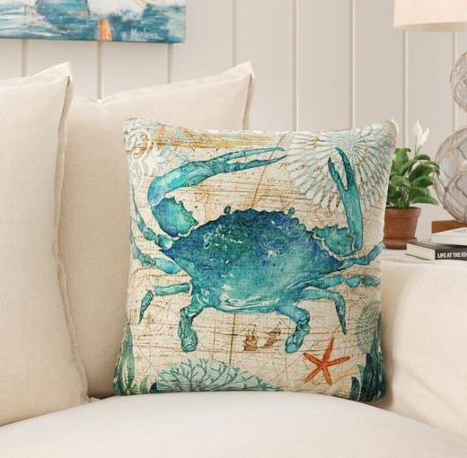 Coastal Nautical Cotton Pillows