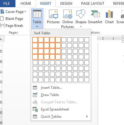 cara menambah dan membuat tabel kosong pada word 2013