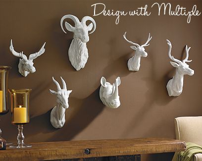 Divine Decor on a Dime: Faux Animal Heads-Trend or Keeper???