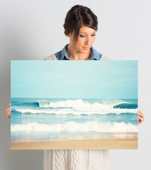 Ocean Waves Photo Art Canvas