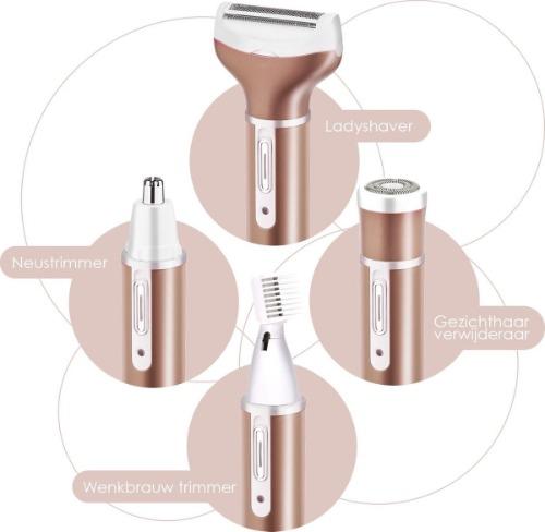 Smart Tech Ladyshave met hulpstukken geschikt voor op reis