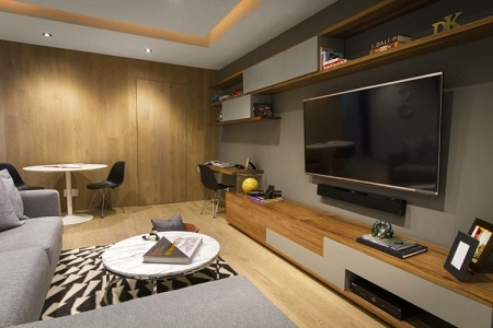 Salas con escritorio salas con estilo - Integrar escritorio en salon ...
