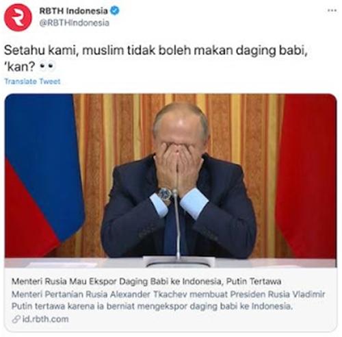 Media Rusia Pun Kaget Soal Jokowi dan Babi Panggang