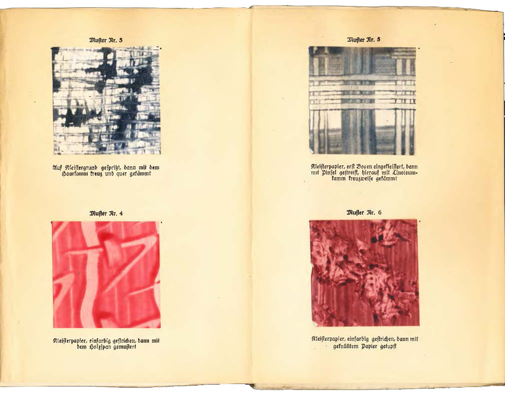 Auch Im Buch, Werbung Für Ein Buch über Schriftschreiben Und Zeichnen Vom  Otto Maier Verlag, Sowie Eine Musterkarte Mit Bunten Fäden.