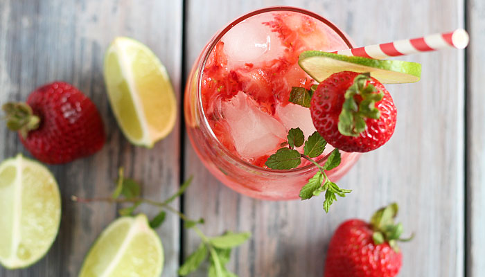 STRAWBERRY MOJITO RECIPE #drink #mojito