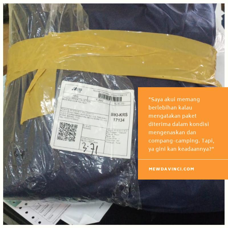 Kondisi paket yang diterima oleh customer butik Fataya Collection