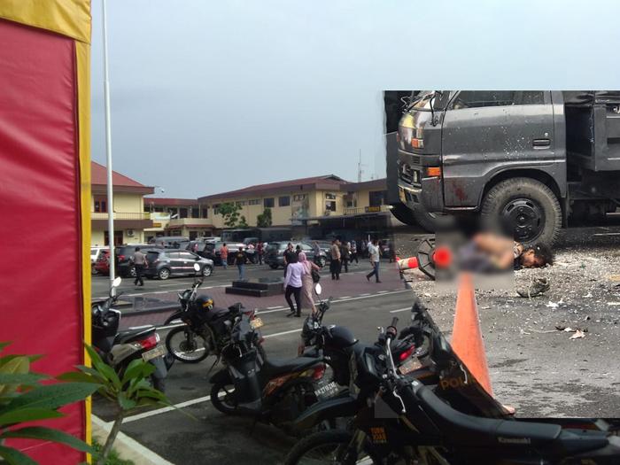 Bom Bunuh Diri di Polrestabes Medan, Lima Personil Polisi Terluka