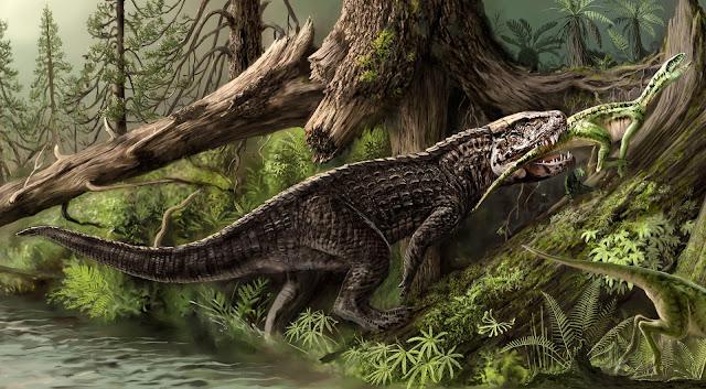 Postosuchus Mural