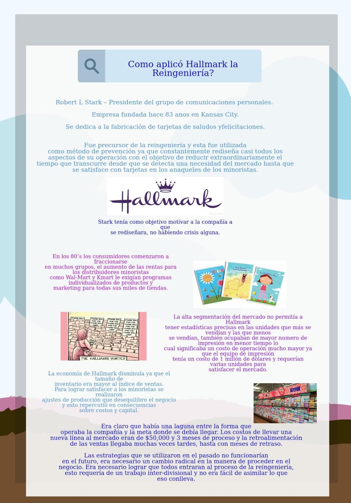 Reingeniería Caso Taco Bell & Hallmark Cards