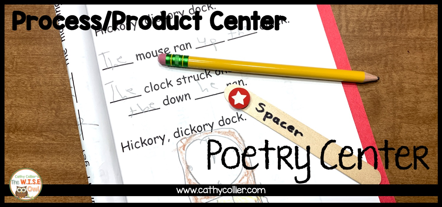 Poetry center is a process/product center, that is, you teach the process and change the product. It is an easy center for independence.