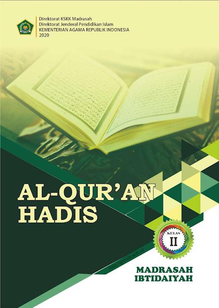 buku pelajaran al-quran hadis kelas 2 mi kskk madrasah kemenag ri