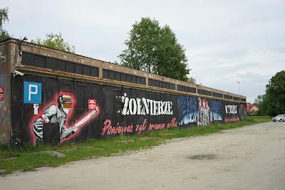 Mural na parkingu przy Sądzie Rejonowym