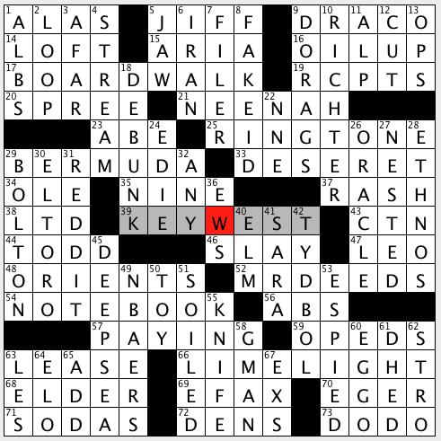 L A Times Crossword Corner Wednesday November 20 2019 Gary Larson