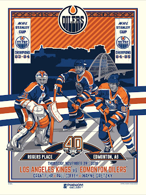 Edmonton Oilers 40th Anniversary Screen Print by M. Fitz x Phenom Gallery