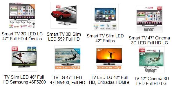 Promoção de TV LED