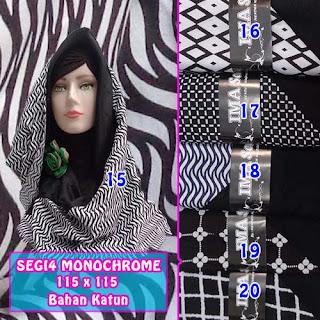 Segi empat monochrome murah motif terbaru dan anyar