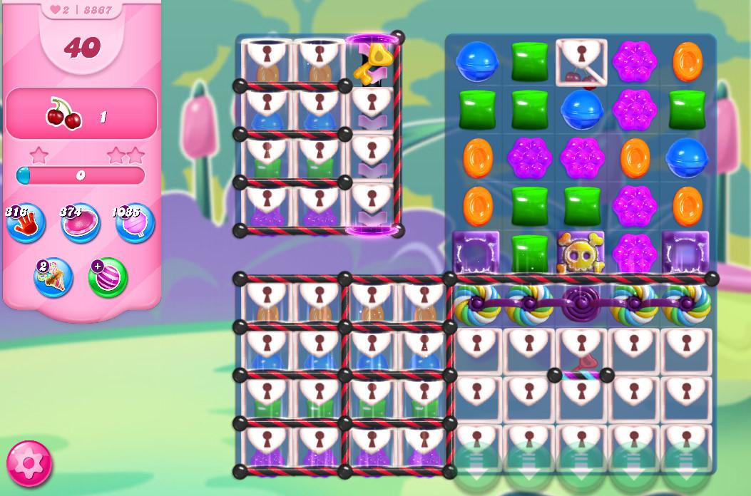 Candy Crush Saga level 8867