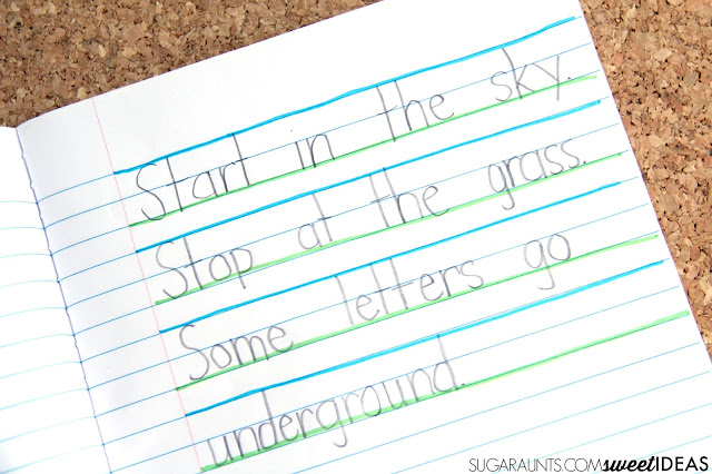 Sky Ground Writing Paper The OT Toolbox