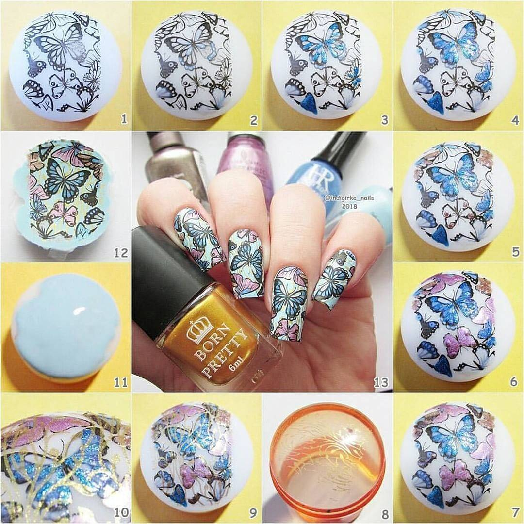 Born Pretty Store Blog: All Beautiful Butterfly Stamping Nails You ...