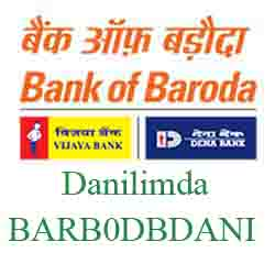 New IFSC Code Dena Bank of Baroda Danilimda