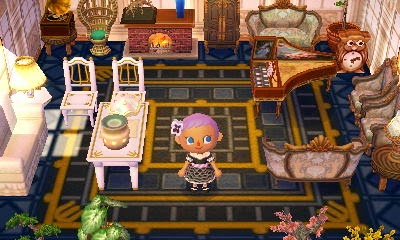 Animal Crossing: New Leaf - regal and roccoco theme set of furniture