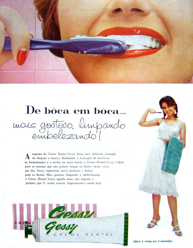 Propaganda antiga do Creme Dental Gessy do ano de 1958