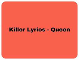 Killer Queen Lyrics