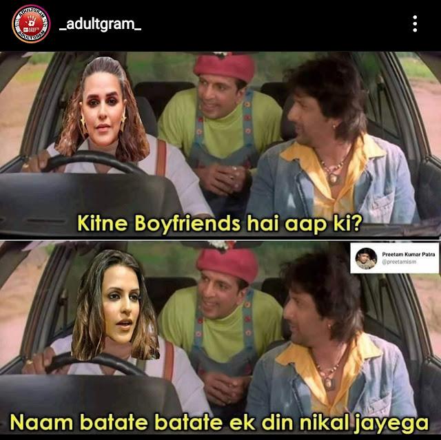 Roadies neha dhupia memes