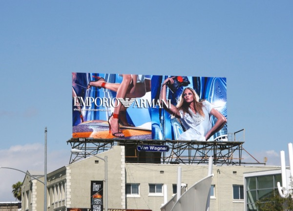 Emporio Armani May 2010 billboard