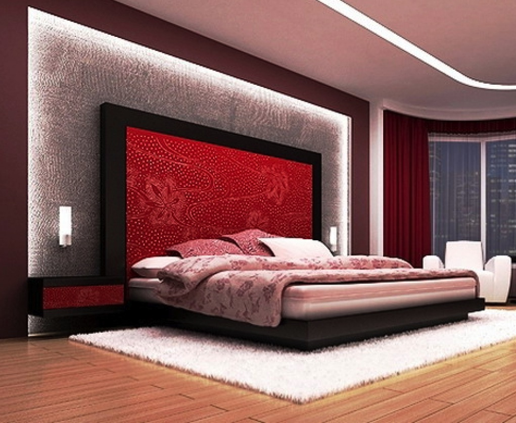 Red and black bedroom - Red And Black Bedroom Ideas With Headboard