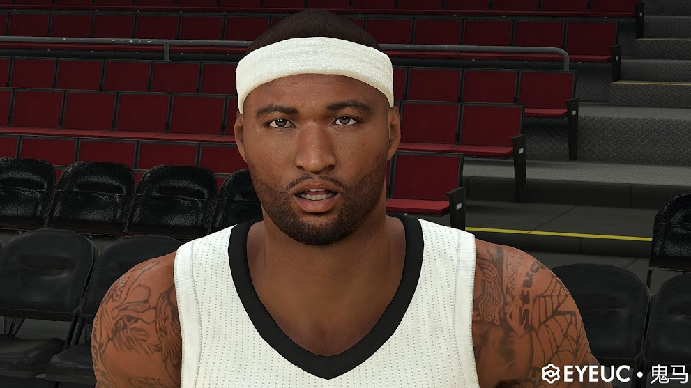 DeMarcus Cousins Cyberface and Body Model 13-14 By Ghost Horse [FOR 2K21]