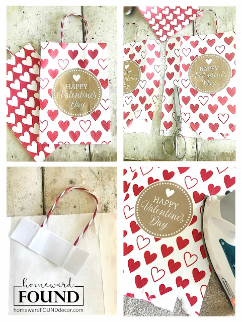 dollar store, dollar store crafts, valentine's day, valentine's day crafts, home decor, seasonal decor, gift wrapping, gift bags, wall art, make art, papercrafts, re-purposing, hearts