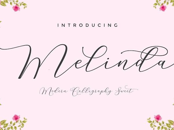 Melinda Elegant Script Free Download