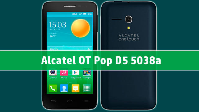 rom stock Alcatel OT Pop D5 5038a