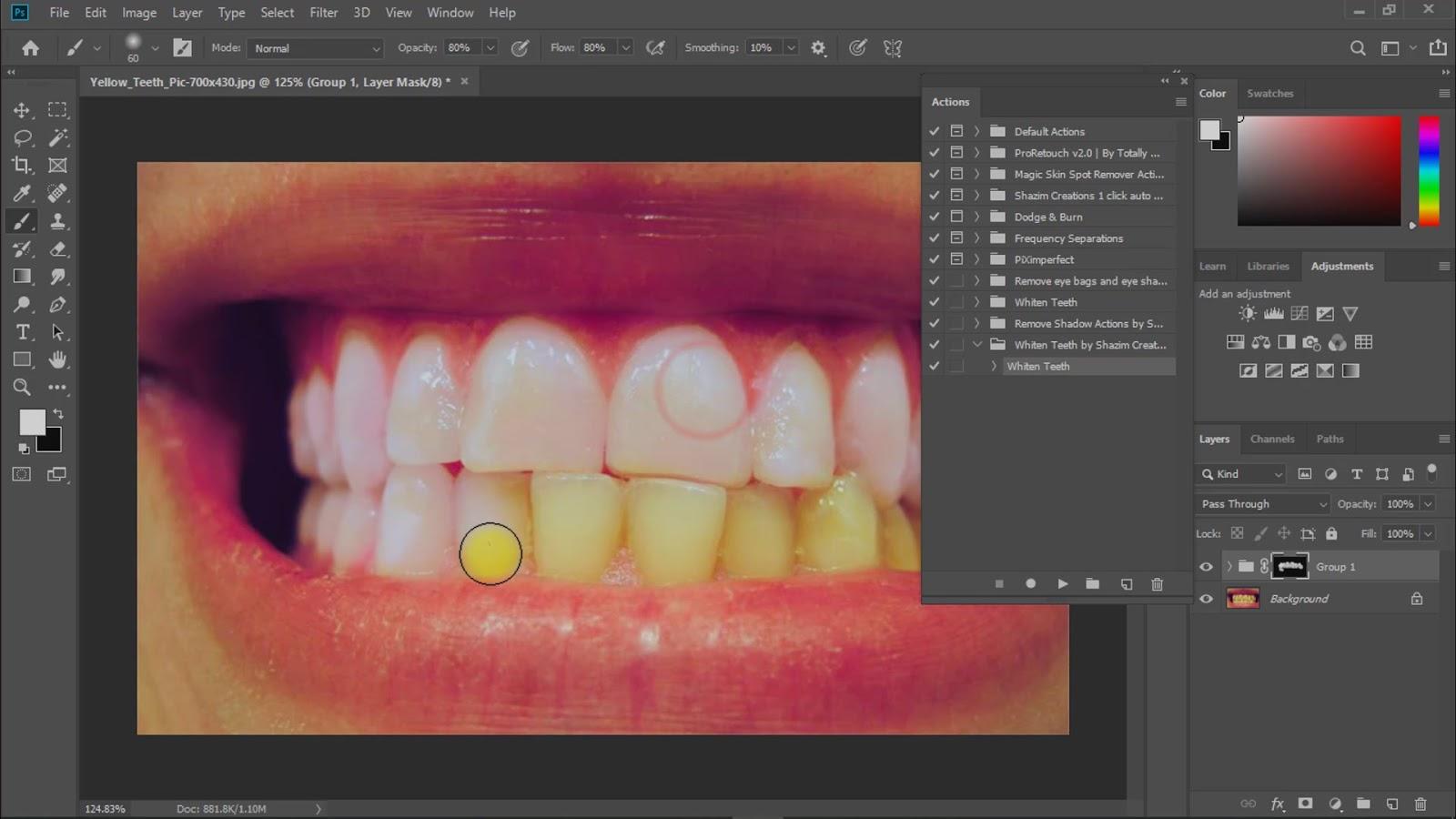 brighten and whiten teeth in photoshop actions screenshot 6