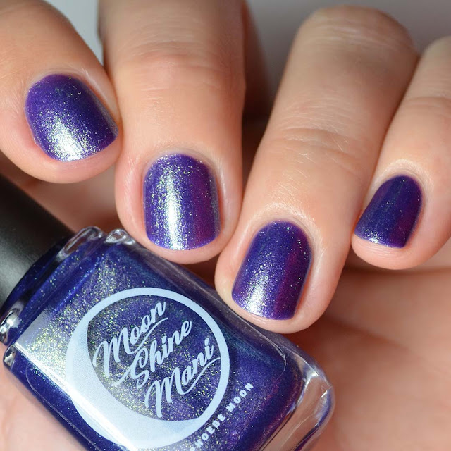 indigo nail polish with shimmer
