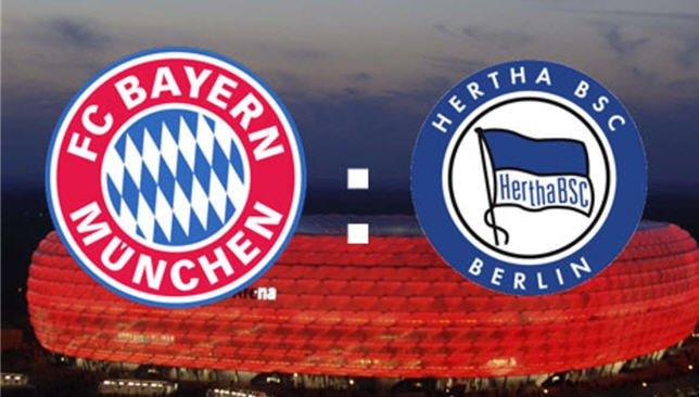 مباراة بايرن ميونخ وهيرتا برلين اليوم