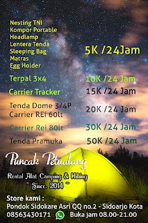 Daftar Sewa Alat Outdoor Sidoarjo Baru Puncak Petualang Rental Alat Outdoor Hiking Sidoarjo Surabaya Rental Alat Camping Tenda Dome
