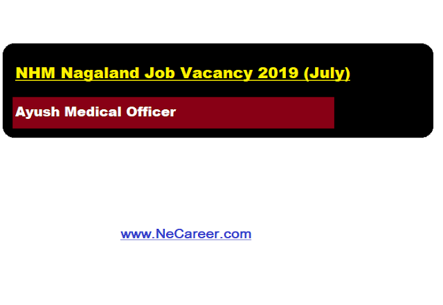 NHM Nagaland Vacancy 2019 (July)