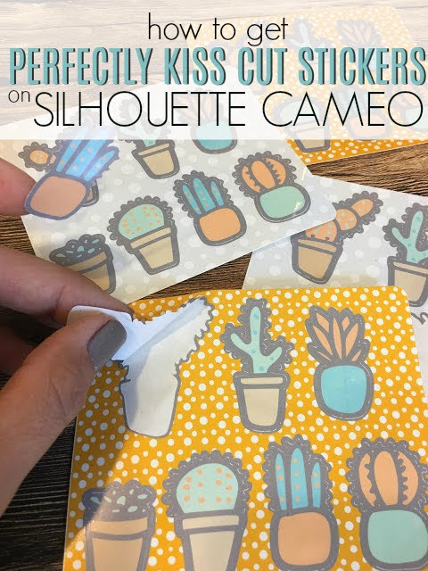 silhouette 101, silhouette america blog, print and cut, sticker paper, kiss cut