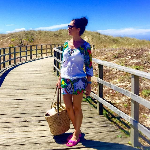 LOOK MODA para ir a la playa, vestido túnica DESIGUAL