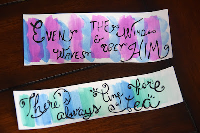 watercolor bookmarks mother's day gift idea there's always time for tea