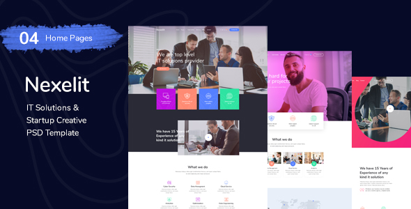 IT Solution & Startup Business PSD Template