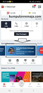 Beli Kouta Ketengan Instagram Via My Telkomsel