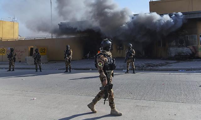 Los cohetes aterrizan cerca de la embajada de Estados Unidos en Bagdad, sin víctimas conocidas