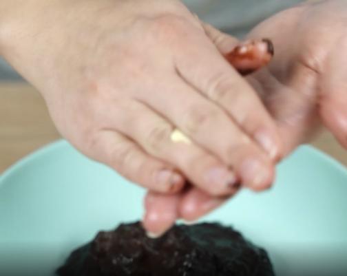 making chocolate truffle balls