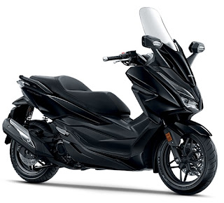 Warna Honda Forza 250 Mat Gunpowder Black Metallic