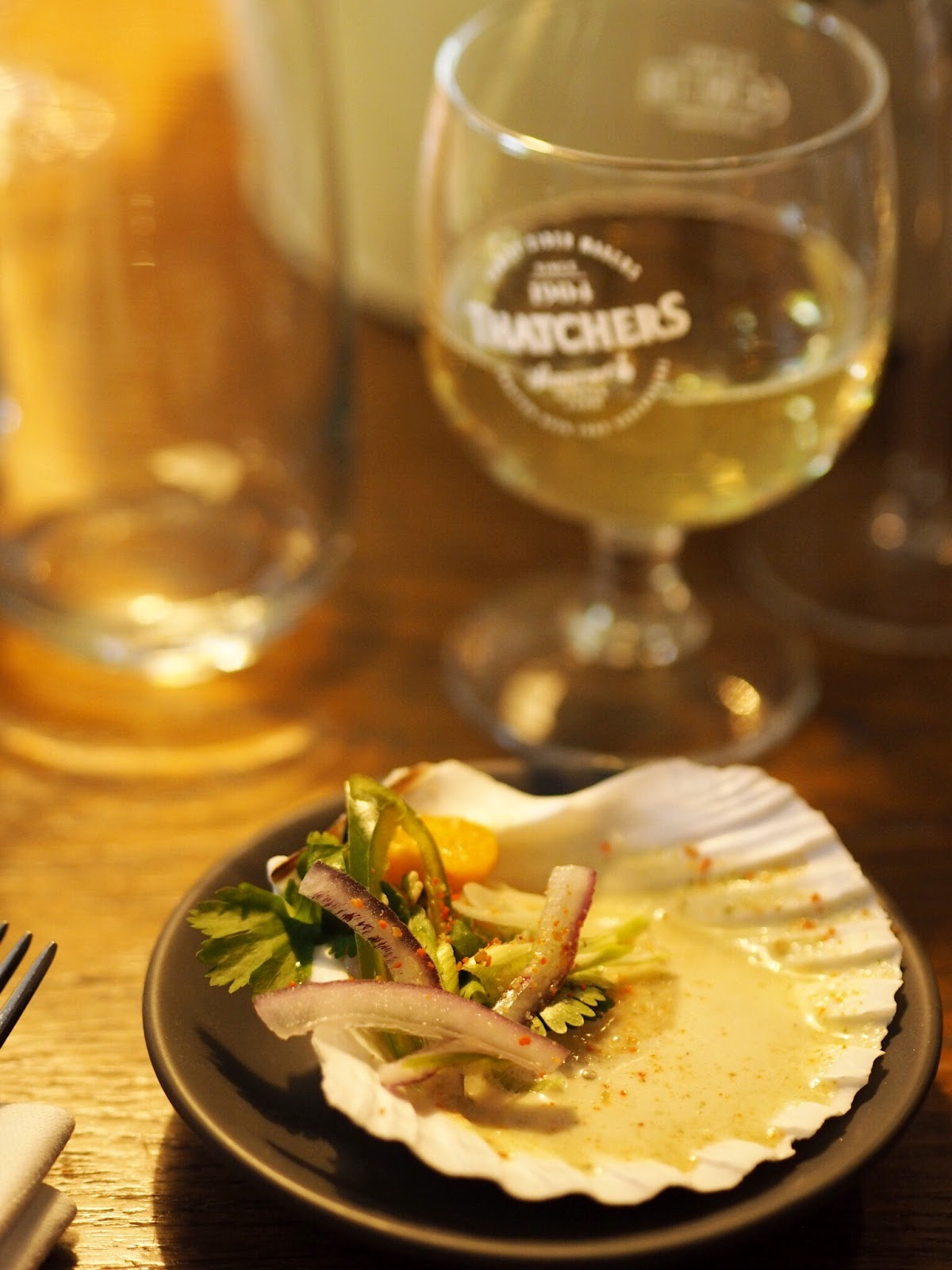 Thatchers Katy with Scallop Ceviche